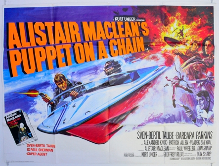 alistair macleans puppet on a chain - cinema quad movie poster (